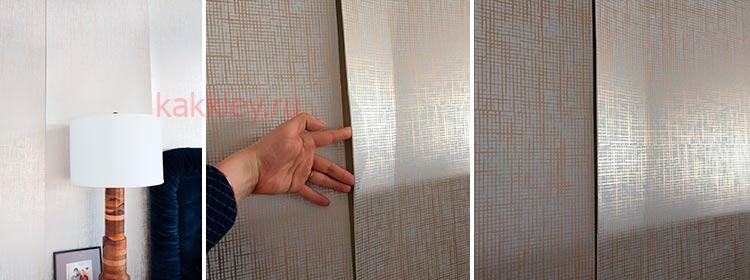 Как правильно клеить швы при поклейке обоев