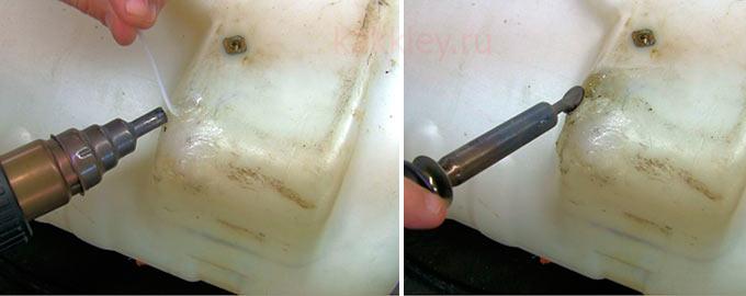 Как самостоятельно заделать трещину в баке для воды из пластика