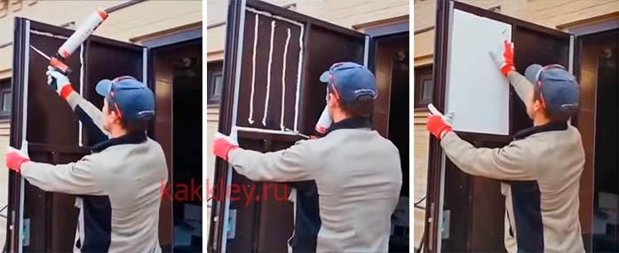 Как утеплить дверь пенопластом