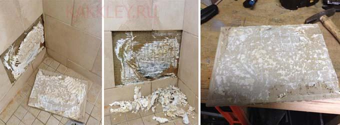 Клеим отвалившуюся плитку инструкция