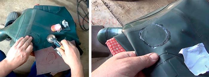 Можно ли отремонтировать подошву резинового сапога