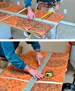 Как разрезать виниловые обои