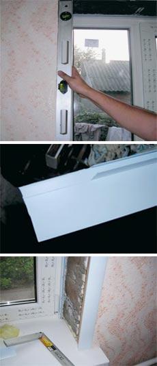 Как клеить откосы на окна