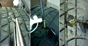 Как заклеить колесо