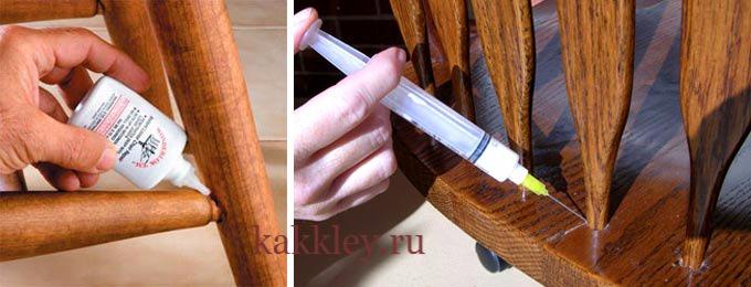 Каким клеем склеить деревянный стул