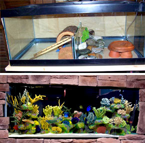 Как склеить большой аквариум