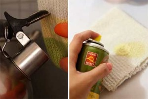 Как удалить клей с ткани
