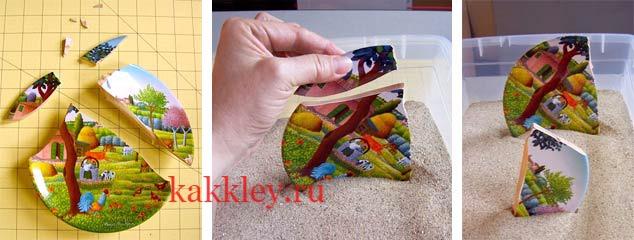 Как поэтапно склеить керамику с керамикой