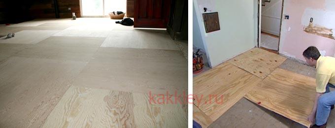 Каков расход клея для фанеры при укладке на бетонный пол