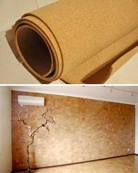 Как клеить пробку на стены