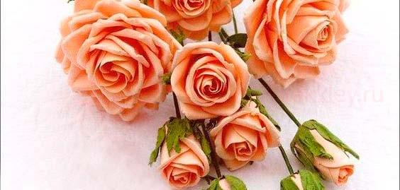 Букет фоамирановых роз своими руками