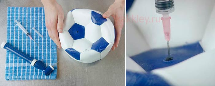 Заклеить мяч в домашних условиях