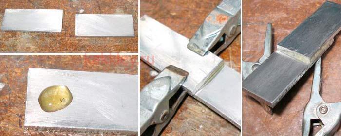 Инструкция как склеить детали из алюминия