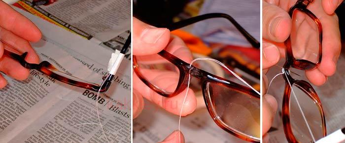 Можно ли склеить сломанные очки