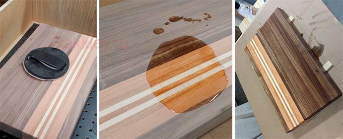 Полировка и обработка маслом готового деревянного изделия