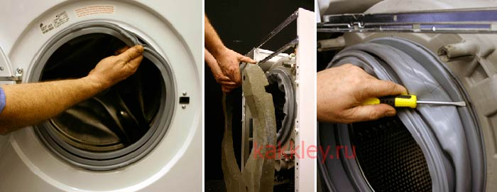 Как вынуть муфту из стиралки для починки