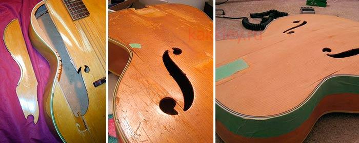 Как заклеить трещины на гитарной деке