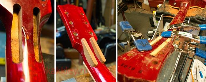 Как правильно склеить гриф гитары