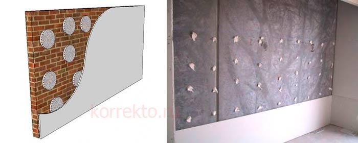 Как укладывать гипрок на стену