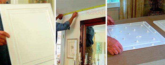 Как клеить пенопластовую потолочную плитку