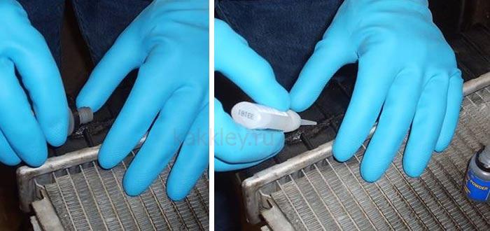 Инструкция как заклеить пластик в радиаторе машины
