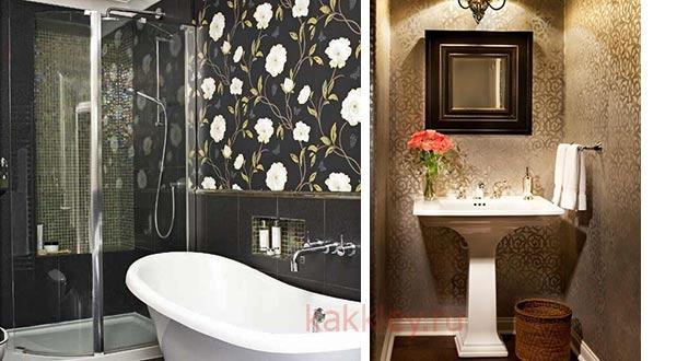 Какие виды обоев подойдут для оклейки ванной