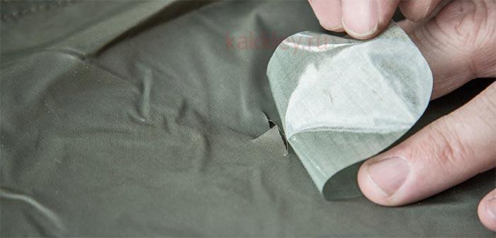 Как сделать правильную заплатку на палатке