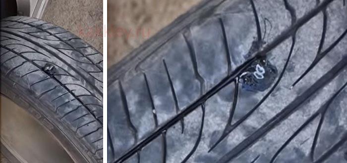 Как срезать жгут при ремонте шин