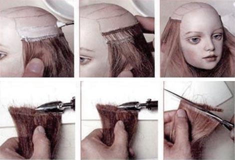 Инструкция как клеить кукле волосы