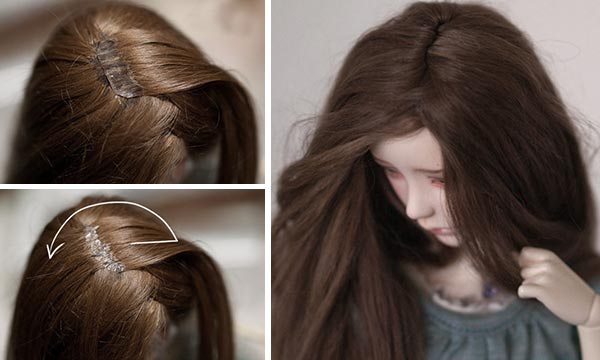 Сделать парик для куклы