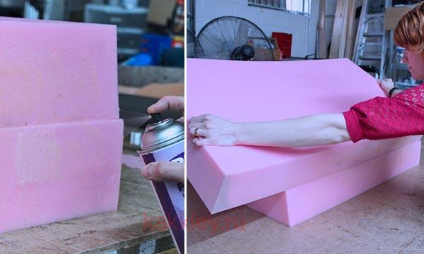 Инструкция как склеить поролон между собой