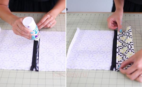 Как клеить ткань жидким клеем