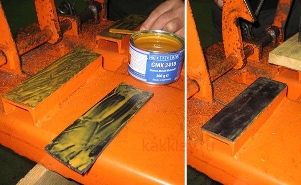 Как склеить резину с металлом