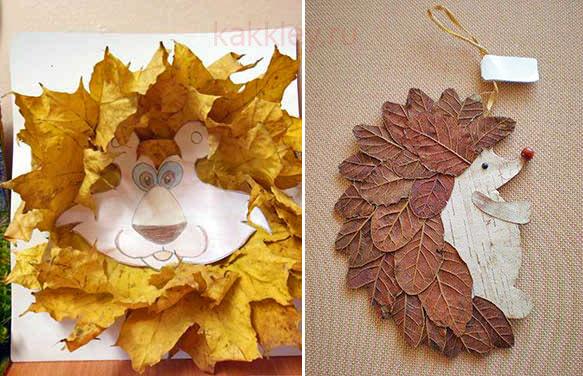 Чем приклеить поделку из листьев к бумаге
