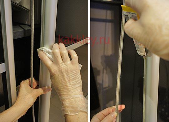 Инструкция как наклеить буферную ленту двери купе
