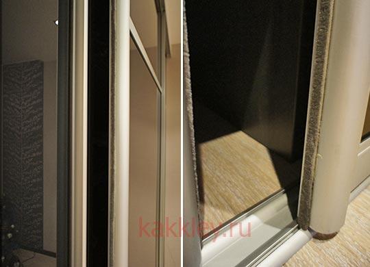 Как клеить отклеившуюся ленту двери купе
