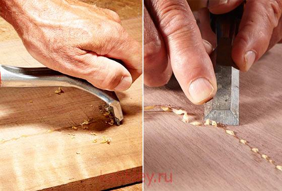 Как удалить клей с дерева