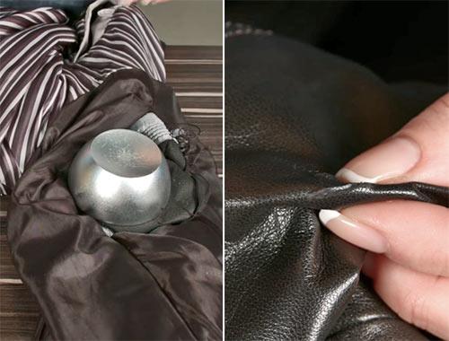 как устранить порез на кожаной куртке