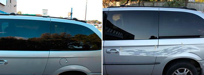 Инструкция как приклеить наклейку на машину