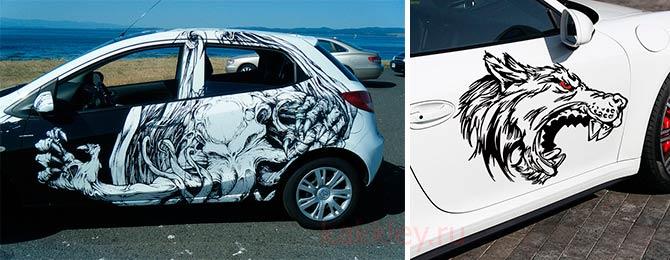 Как приклеивать наклейки на кузов и стекло авто
