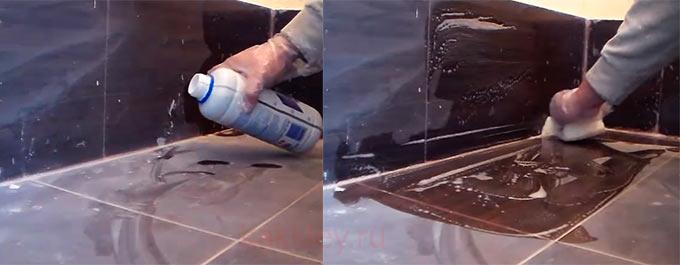 Как удалить засохший клей с плитки