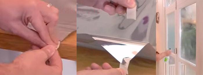 Пошаговая установка зеркальной пленки на окна