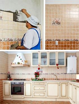 Инструкция как клеить плитку на стену