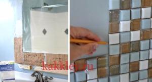 Как клеить плитку на окрашенную поверхность поэтапно