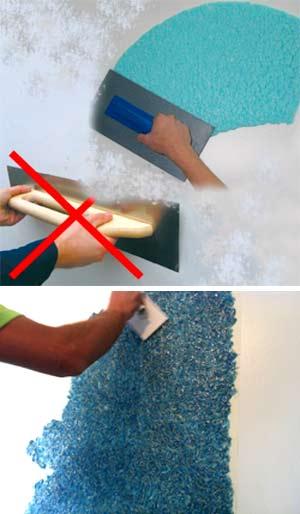 Правила нанесения жидких обоев