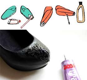 Как убрать клей с обуви