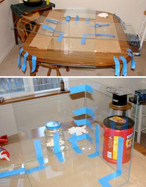 Как склеить аквариум