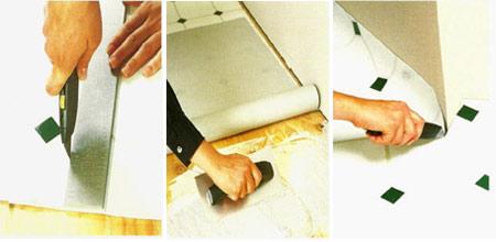 Как клеить линолеум на бетон