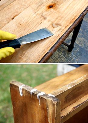 Как удалить клей с мебели