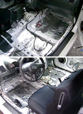 Поэтапная шумоизоляция машины